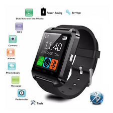 U8s Black Smart Watch Wristwatch Phone Touch Screen for Android iOS Smart Phones