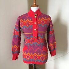 58a18a04670 Yves Saint Laurent Rive Gauche Vtg Sweater Sz 36 XS/S Graphic Wool YSL  Vintage