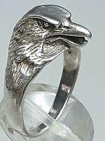 Vintage Silber Ring Adler 925 Silber punz. 60er-80er Jahre RG 57/18,1mm / A492