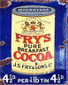 Frys Pure Breakfast Cocoa Vitage ENAMEL METAL TIN SIGN WALL PLAQUE