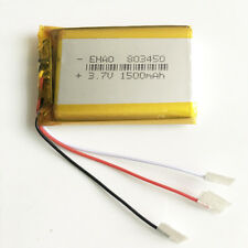 3.7V 1500mAh 3 wires Lipo Rechargeable Battery For PAD DVD Power bank PDA 803450