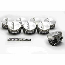 """Speed Pro Chevy 350 Hypereutectic Flat Top 2VR Pistons+MOLY Rings 9.7:1 +.060"""""""