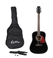 New Martinez Beginner Acoustic Dreadnought Guitar Pack (Black)