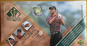 2003 SP AUTHENTIC TIGER WOODS GOLF FACTORY SEALED BOX-TIGER, PALMER, AUTOS?