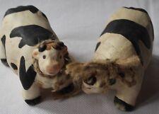 2 Deko-Kühe aus Keramik, 11 x 7 cm