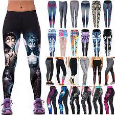Women's 3D High Waist Yoga Fitness Leggings Running Gym Sports Pants Trousers