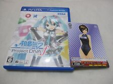 7-14 Days to USA. W/AR Marker + Card Vita Hatsune Miku Project Diva f Japanese