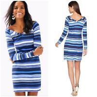 NWT Lilly Pulitzer Suzanna Dress Navy Blue Jungley Stripe Horizontal XS $168 QK