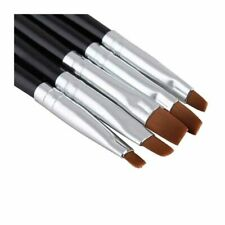Juego Set de 5 Pinceles Nail Art Brush Uñas Manicura UV Gel