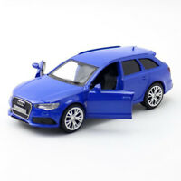 1/36 Scale Audi RS 6 Avant Model Car Diecast Toy Vehicle Kids Blue Pull Back