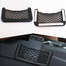 Car Mini Black Durable Storage Mesh Resilient String Phone Bag Holder Organizer