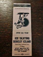 Vintage Matchcover: East Bay Ice Skating, Berkeley Iceland, Berkeley, Ca 05