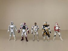 Star Wars Clone Trooper Army Builder Lot of 5 Loose Action Figures