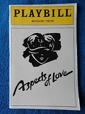Aspects Of Love - Broadhurst Theatre Playbill - May 1990 - Michael Ball - Crumb