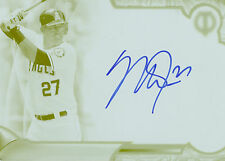 MIKE TROUT 2016 TOPPS TRIBUTE AUTOGRAPH PRINT PLATE YELLOW 1/1! FREE SHIP!