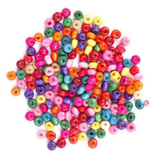 1000pcs Wholesale Mixed Colour Wooden Seed Beads Spacer Beads 4mm hi