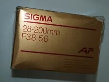 28-200mm SIGMA F3.8-5.6 NEW AF AUTOFOCUS ZOOM LENS for SONY ALPHA MINOLTA MAXXUM