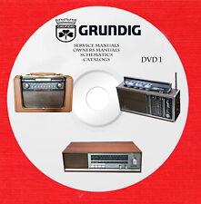 Grundig Audio Repair Service Schematics owners manuals dvd 1 of 2 in pdf format