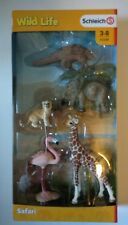 Schleich Wild Life Animals 5 Figure Set 42388 Safari Giraffe Flamingo BNIB