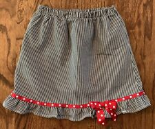 Chez Ami Girls Skort Black White Check Red Dot Trim Ruffle Sz 7 Patsy Aiken EUC