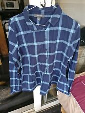 Primark Ladies Blouse Blue Checked, size16