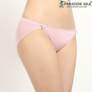 Womens Panties NWT Pure Silk Knit Sexy With Bow-Knot