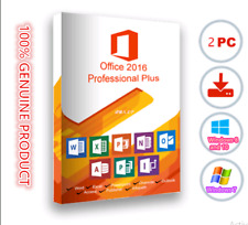BRAND NEW,Microsoft Office Professional 2016 DVD Brand New Genuine - 2PC Install