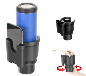 2 In 1 Rotary Bottle Cup Holder Phone Bracket For Car Truck Treadmill Golf Cart
