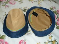 childrens clothes =2 canvas hats  from next