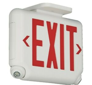 Hubbell Lighting EVCURWI Architectural Combination Exit Sign And Emergency Light