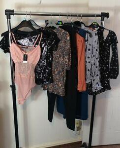Womens Ladies Clothes Bundle Size 6 Denim Skirt Trousers Shirt Blouse Dress V4