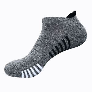 1 Pair Mens Low Cut Ankle Breathable Cotton Cushion Athletic Running Sport Socks