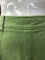 Boden Green Moleskin Cotton Skirt Size 12 R  -  Great Condition, Beautiful