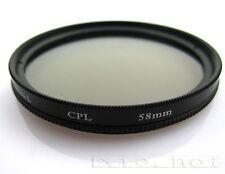 58mm CPL Polarizer Filter for Canon Rebel EOS 1100D 1000D 650D 600D 610D 18-55MM