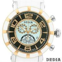 DEDIA Made In Switzerland Swiss Movement Diamond Stainless Steel Men's Watch