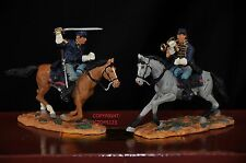 BRITAINS 17399 UNION BUGLER + SERGEANT MOUNTED METAL TOY SOLDIER FIGURE SET