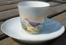 -Coffee cup Tasse XIX ème Porcelaine Vieux Paris Oiseau