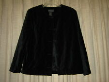 Womens Black Velvet Quilted Jacket, size  M, EUC