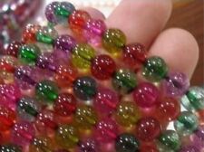 """6mm Multicolor Tourmaline Round Loose Beads 15"""" AAA"""