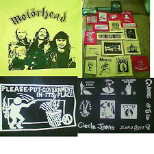 Lot of 29 punk patches and 3 Back patches!!