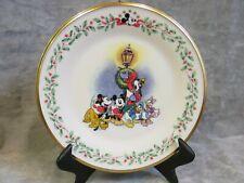 "Lenox Disney Holiday Plate Featuring Mickey & Co ""A Carolin' We Go"""
