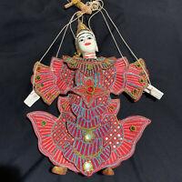 """Vintage Thai Burmeset String Puppet Marionette Doll 16 1/2"""""""