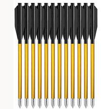 """36Pcs 6.25"""" Aluminium Crossbow Bolts Arrows Steel Tips for Pistol Crossbow Hunt"""