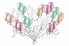 24 pc Pearl Peach White Seafoam Pink Latex Balloons Party Decoration Baby Girl