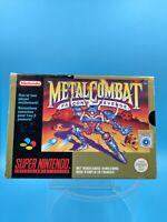 jeu video complet super nintendo SNES complet FAH metal combat