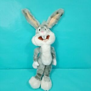 "Looney Tunes 14"" Bugs Bunny Plush Poseable Ears Warner Bros. Stuffed Animal Toy"