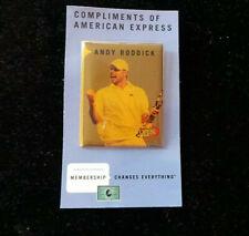 US Open Andy Roddick Photo Pinback on original card American Express 2006 NF