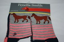 Fenella Smith ~ HORSE ~ Fashion Socks pack of 3 ~  BNWT cotton blen UK shoe 4/8