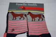 Fenella Smith ~ CHEVAL ~ Fashion Chaussettes Pack de 3 ~ BNWT coton Blen UK Chaussure 4/8