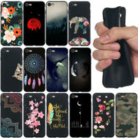 For iphone 5 6 6S 7 8 X Shockproof Soft Silicone Black Painted TPU Case Cover